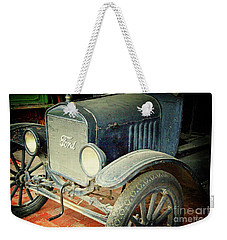 Vintage Ford Weekender Tote Bag by Inspirational Photo Creations Audrey Woods