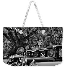 Vintage Ford Line-up At Magnolia Plantation - Charleston Sc Weekender Tote Bag