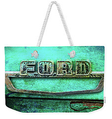 Vintage Ford Truck Logo  Weekender Tote Bag by Terry DeLuco