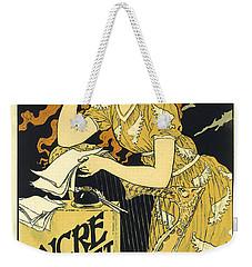 Vintage French Advertising Art Nouveau Encre L'marquet Weekender Tote Bag