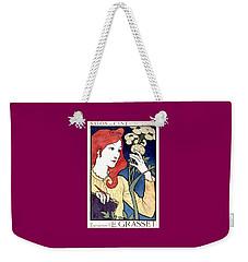 Vintage French Advertising Art Nouveau Salon Des Cent Weekender Tote Bag