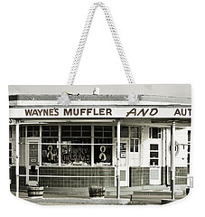 Vintage Gas Station Weekender Tote Bag