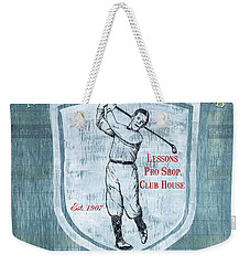 Vintage Golf Blue 1 Weekender Tote Bag