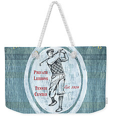 Vintage Golf Blue 2 Weekender Tote Bag