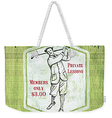 Vintage Golf Green 1 Weekender Tote Bag