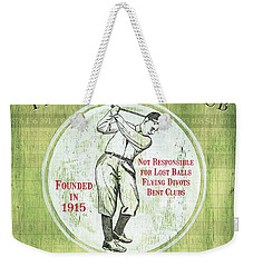 Vintage Golf Green 2 Weekender Tote Bag
