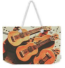 Vintage Guitars On Music Sheet Weekender Tote Bag