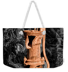 Vintage Hand Water Pump Weekender Tote Bag