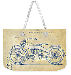 Vintage Harley-davidson Motorcycle 1924 Patent Artwork Weekender Tote Bag