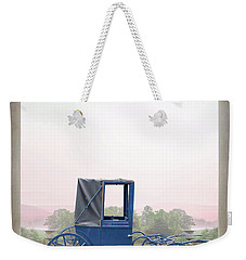Vintage Horse Drawn Carriage Outside A Country Mansion  Weekender Tote Bag