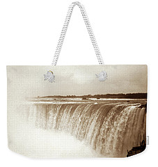 Weekender Tote Bag featuring the photograph Vintage Horsehoe Falls Niagara by Marilyn Hunt