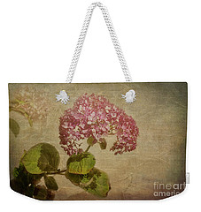 Weekender Tote Bag featuring the photograph Vintage Hydrangea by Elaine Teague