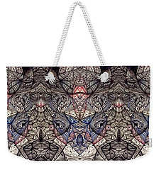 Weekender Tote Bag featuring the drawing Vintage Inner Landscape by Jack Dillhunt