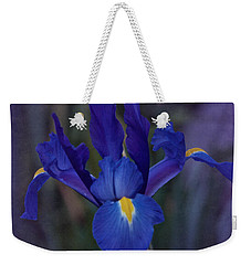 Vintage Blue Magic Iris Weekender Tote Bag by Richard Cummings