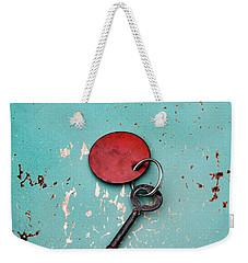 Vintage Key With Red Tag Weekender Tote Bag by Jill Battaglia