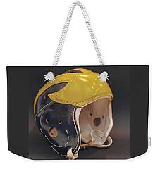 Vintage Leather Wolverine Helmet Weekender Tote Bag
