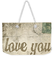 Vintage Love Letters Weekender Tote Bag by Edward Fielding