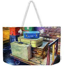 Vintage Luggage Weekender Tote Bag