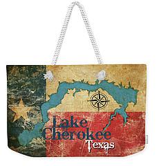 Vintage Map - Lake Cherokee Texas Weekender Tote Bag