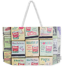 Weekender Tote Bag featuring the photograph Vintage Matchbooks by Edward Fielding