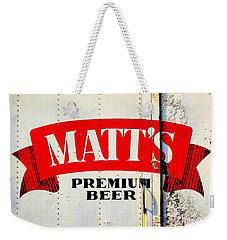 Vintage Matt's Premium Beer Sign Weekender Tote Bag