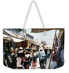 Weekender Tote Bag featuring the photograph Vintage Mexico Women Babies by Marilyn Hunt