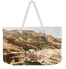 Vintage Mining Pit Weekender Tote Bag