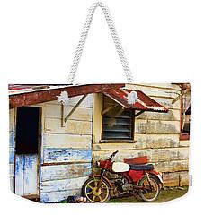 Vintage Motorbike Weekender Tote Bag
