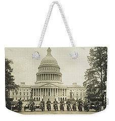 Vintage Motorcycle Police - Washington Dc  Weekender Tote Bag