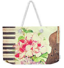 Vintage Music Weekender Tote Bag