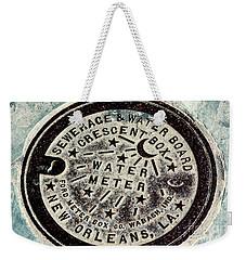 Vintage New Orleans Water Meter Weekender Tote Bag