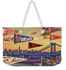 Vintage New York Mets Weekender Tote Bag