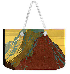 Vintage New Zealand Travel Poster Weekender Tote Bag by George Pedro