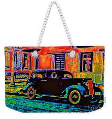 Vintage Nostalgia Weekender Tote Bag