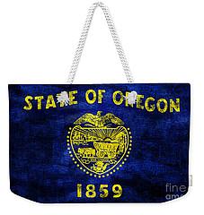 Vintage Oregon Flag Weekender Tote Bag by Jon Neidert