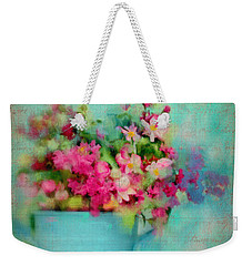 Flowers From A Cottage Garden Weekender Tote Bag