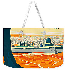 Vintage Palestine Travel Poster Weekender Tote Bag by George Pedro