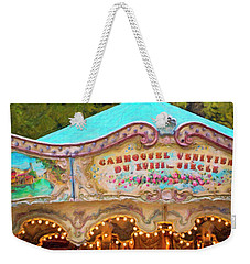 Weekender Tote Bag featuring the photograph Vintage Paris Carousel by Melanie Alexandra Price