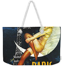 Vintage Paris Moon Weekender Tote Bag
