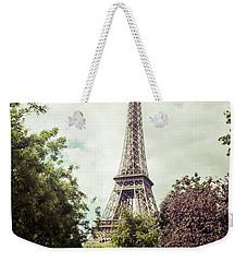Vintage Paris Weekender Tote Bag