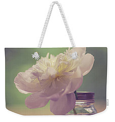 Weekender Tote Bag featuring the photograph Vintage Peony Flower Still Life by Edward Fielding