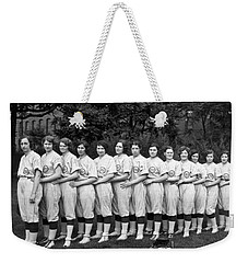 Vintage Photo Of Women's Baseball Team Weekender Tote Bag