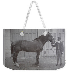 Vintage Photograph 1902 Horse With Handler New Bern Nc Area Weekender Tote Bag