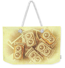 Vintage Photographer Film Art Weekender Tote Bag
