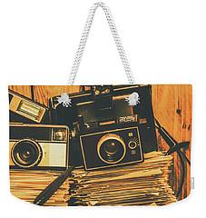 Vintage Photography Stack Weekender Tote Bag
