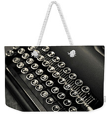 Weekender Tote Bag featuring the photograph Vintage Portable Typewriter by Edward Fielding