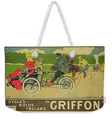 Vintage Poster Bicycle Advertisement Weekender Tote Bag by Walter Thor