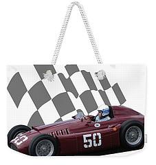 Vintage Racing Car And Flag 1 Weekender Tote Bag