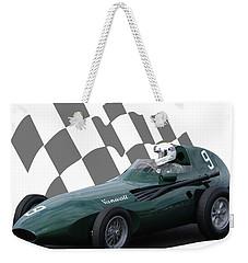 Vintage Racing Car And Flag 5 Weekender Tote Bag