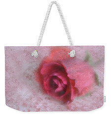 Weekender Tote Bag featuring the photograph Vintage Red Rose by Diane Alexander